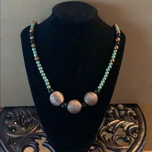 Jewelry - Turquoise Brown and Black Necklace